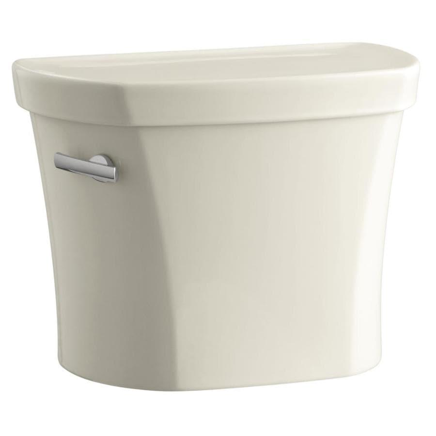 KOHLER Wellworth Almond 1.28-GPF (4.85-LPF) 14 Rough-In Single-Flush High-Efficiency Toilet Tank