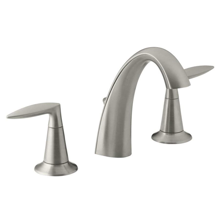 Shop Kohler Alteo Vibrant Brushed Nickel 2 Handle Widespread Watersense Bathroom Faucet Drain
