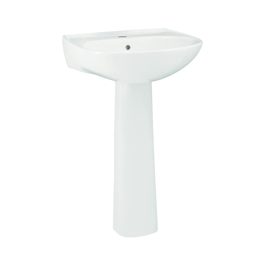 Sterling Sacramento 34 In H White Vitreous China Pedestal Sink