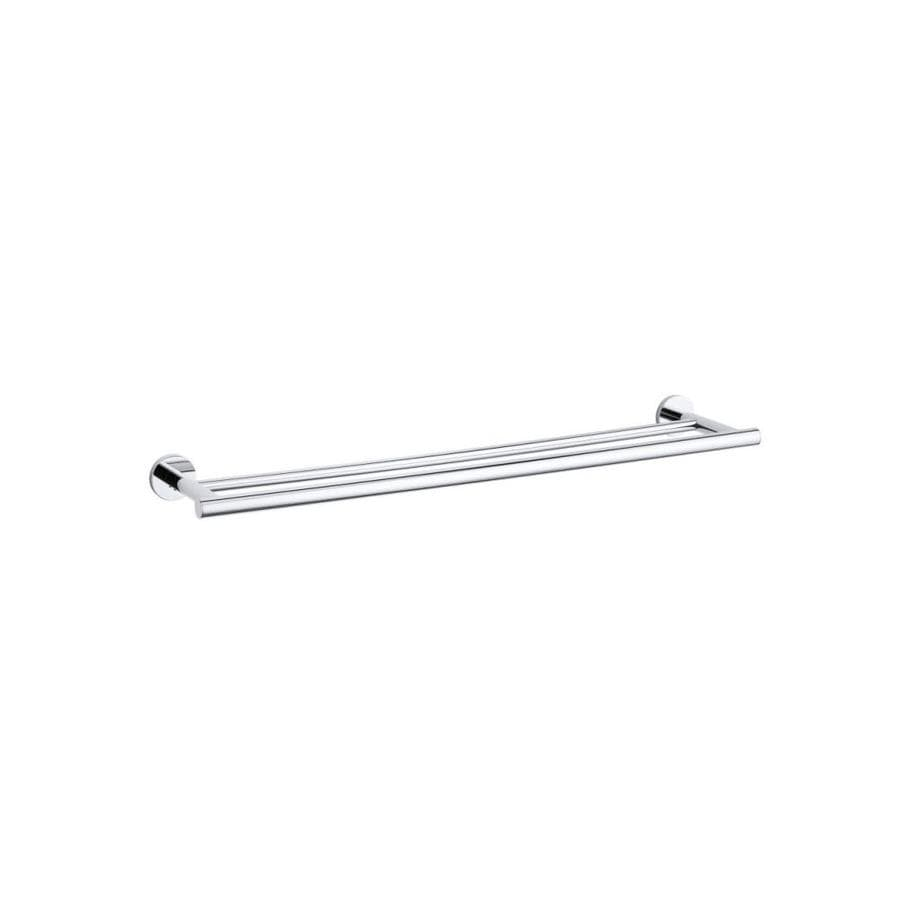 KOHLER Stillness Polished Chrome Double Towel Bar (Common: 24-in Double; Actual: 24.9375-in)