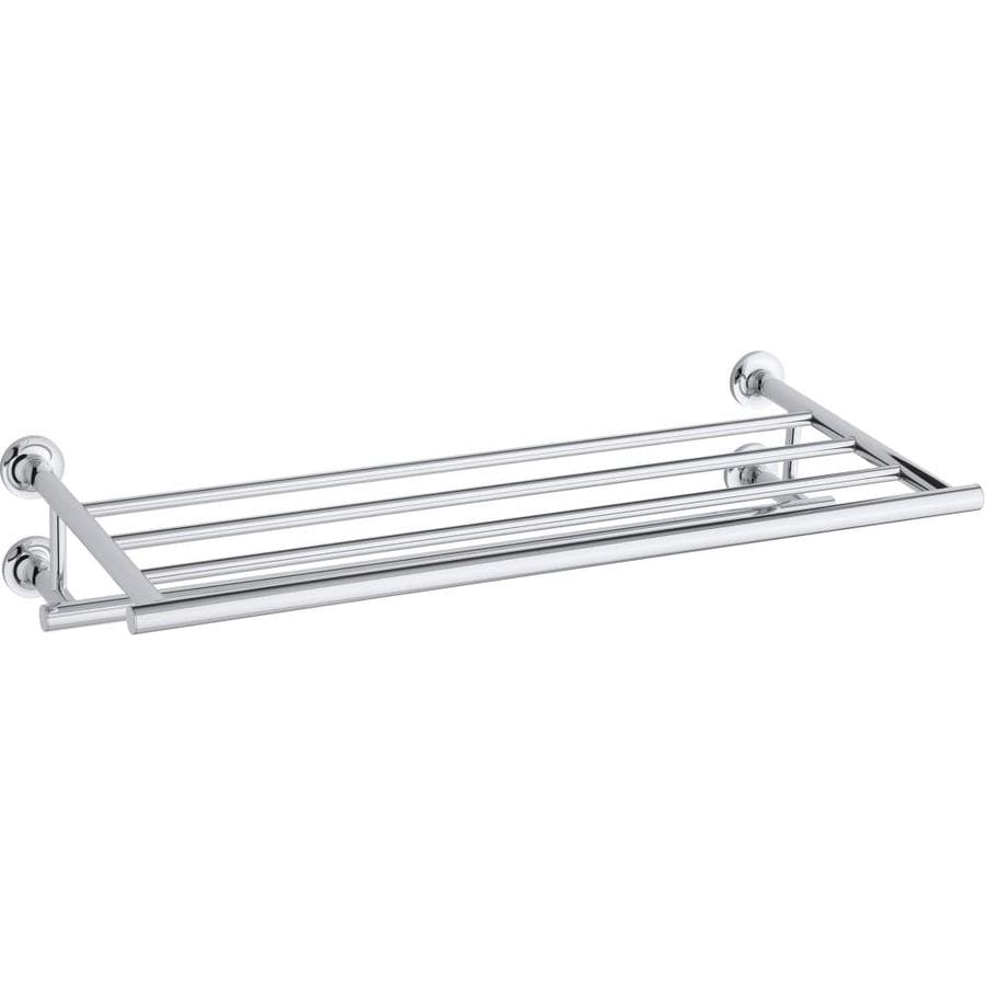 KOHLER Purist 1-Tier Polished Chrome Metal Bathroom Shelf