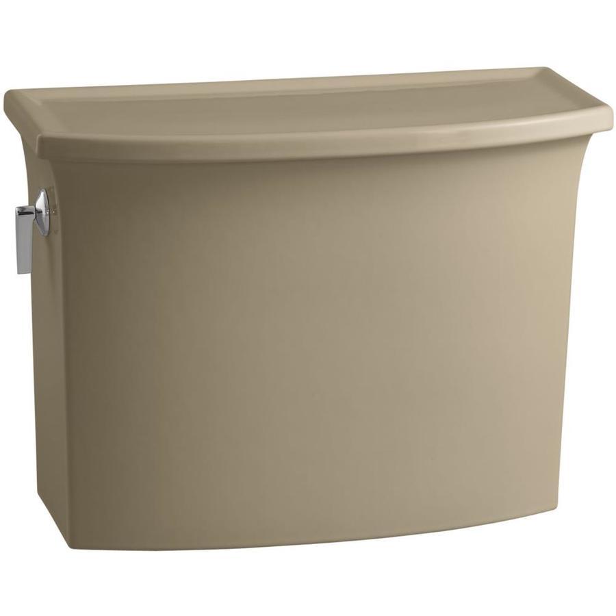 KOHLER Archer Mexican Sand 1.28-GPF (4.85-LPF) 12-in Rough-In Single-Flush High-Efficiency Toilet Tank