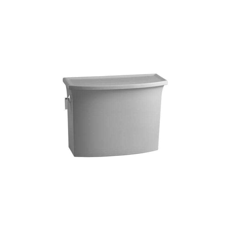 KOHLER Archer Ice Grey 1.28-GPF (4.85-LPF) 12-in Rough-In Single-Flush High-Efficiency Toilet Tank