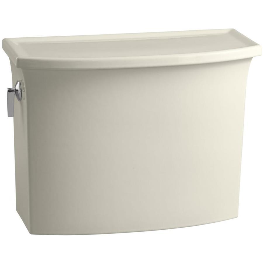 KOHLER Archer Biscuit 1.28-GPF (4.85-LPF) 12-in Rough-In Single-Flush High-Efficiency Toilet Tank