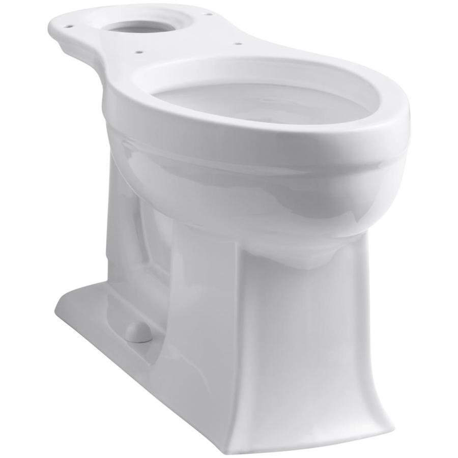 KOHLER Archer White Elongated Chair Height Toilet Bowl