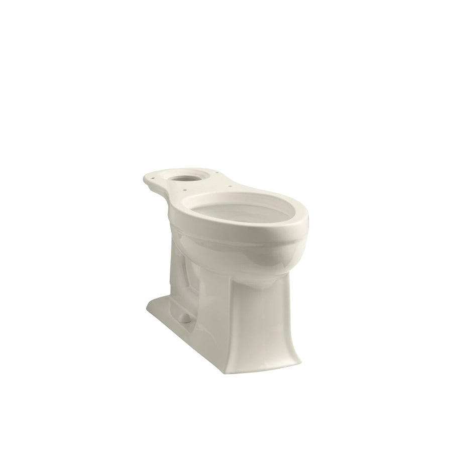 KOHLER Archer Comfort Height Almond 12-in Rough-in Elongated Toilet Bowl