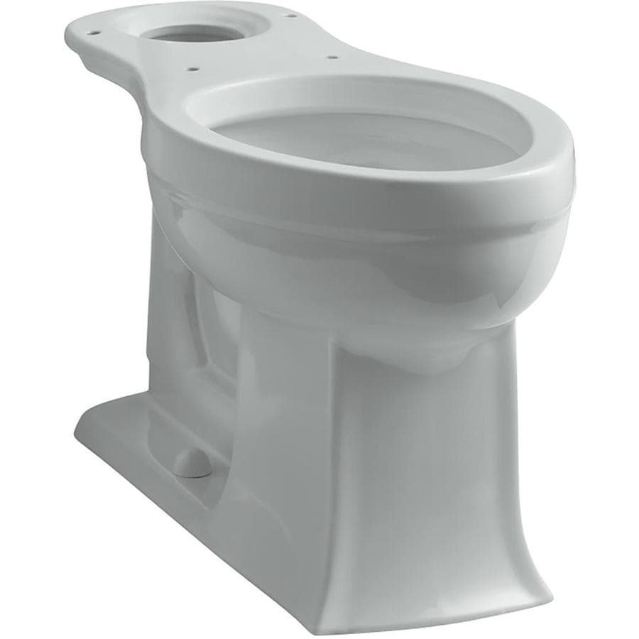 KOHLER Archer Comfort Height Ice Grey 12-in Rough-in Elongated Toilet Bowl