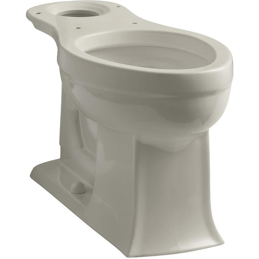 KOHLER Archer Comfort Height Sandbar 12-in Rough-in Elongated Toilet Bowl