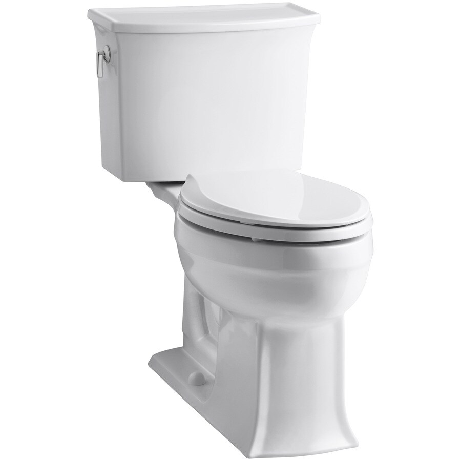 KOHLER Archer 1.28-GPF (4.85-LPF) White Elongated Chair Height 2-piece Toilet