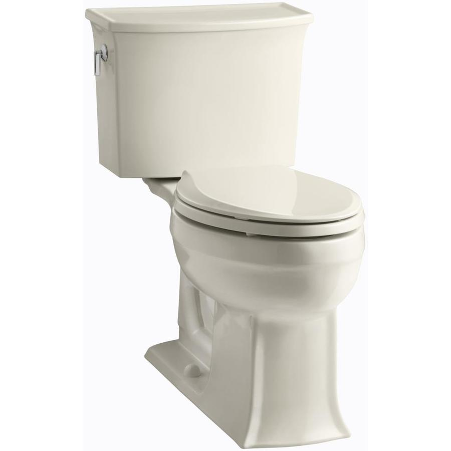 KOHLER Archer 1.28-GPF (4.85-LPF) Almond WaterSense Elongated Chair Height 2-Piece Toilet