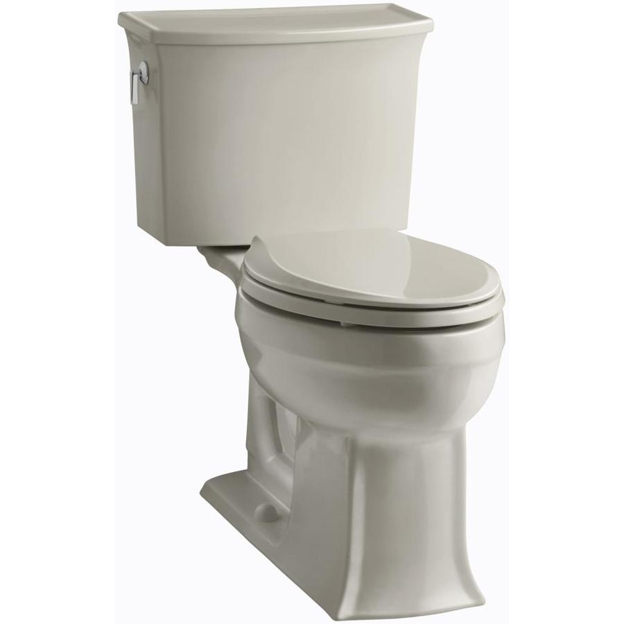 KOHLER Archer 1.28-GPF (4.85-LPF) Sandbar WaterSense Elongated Chair Height 2-Piece Toilet