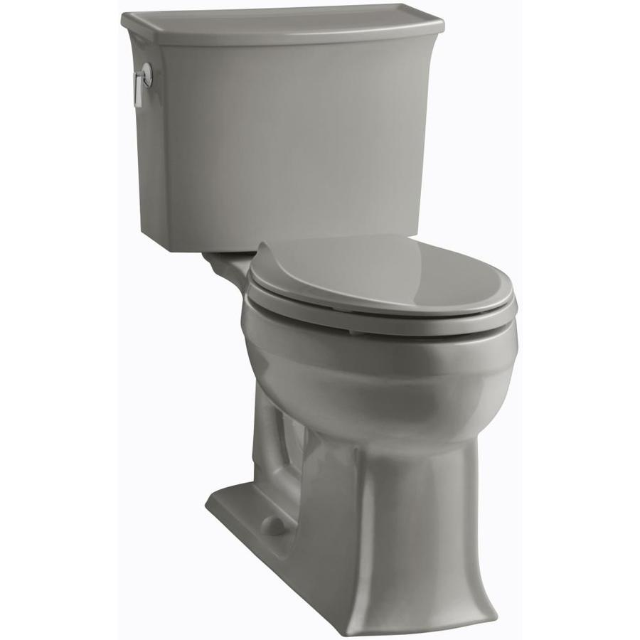 KOHLER Archer 1.28-GPF (4.85-LPF) Cashmere Elongated Chair Height 2-piece Toilet