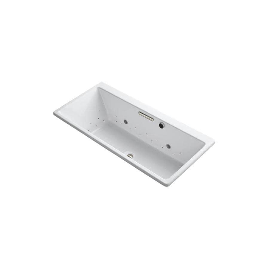 KOHLER Reve 66.9375-in L x 31.5-in W x 19.0625-in H White Acrylic Rectangular Drop-In Air Bath
