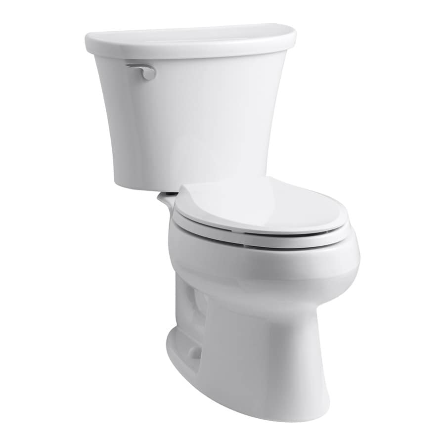 KOHLER Cavata White 1.28-GPF (4.85-LPF) 12 Rough-In WaterSense Elongated 2-Piece Standard Height Toilet