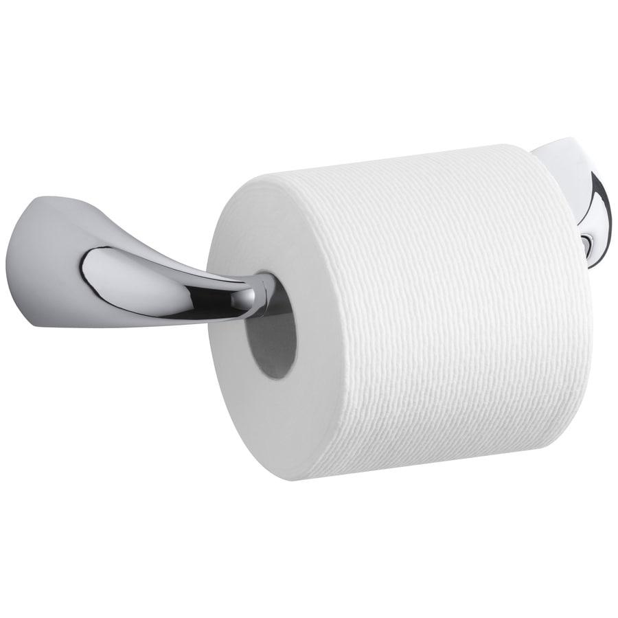 KOHLER Alteo Polished Chrome Surface Mount Pivot Toilet Paper Holder