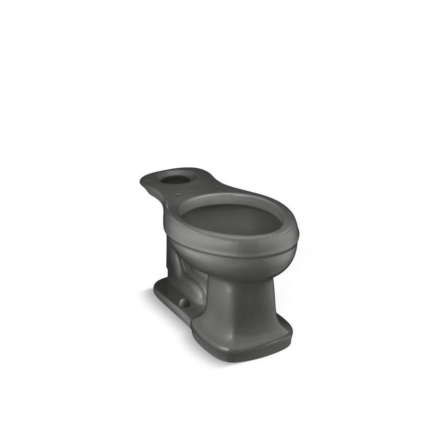 KOHLER Bancroft Comfort Height Thunder Grey 12-in Rough-in Elongated Toilet Bowl
