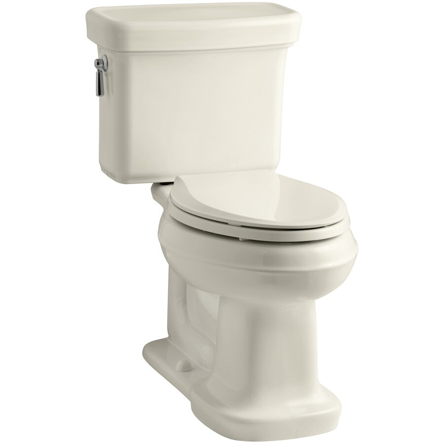 KOHLER Bancroft 1.28 Almond WaterSense Elongated Chair Height 2-Piece Toilet