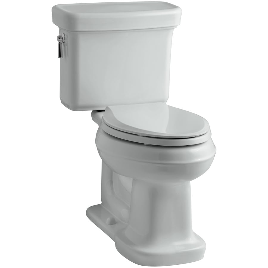 KOHLER Bancroft Ice Grey 1.28-GPF (4.85-LPF) 12 Rough-In WaterSense Elongated 2-Piece Chair Height Toilet