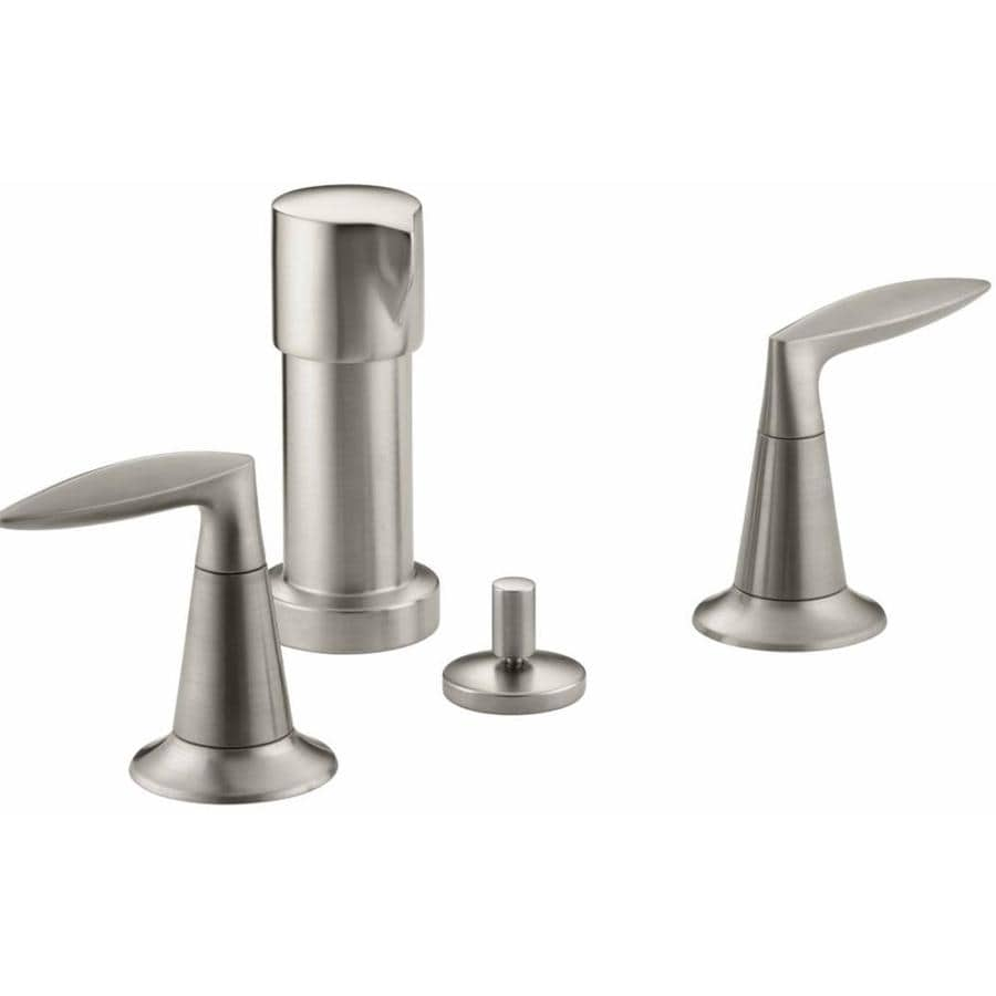 KOHLER Alteo Vibrant Brushed Nickel Vertical Spray Bidet Faucet
