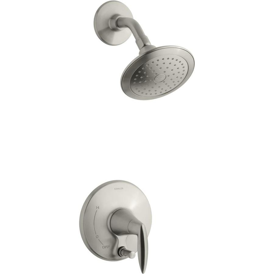 Shop KOHLER Alteo Vibrant Brushed Nickel 1-Handle Faucet at Lowes.com