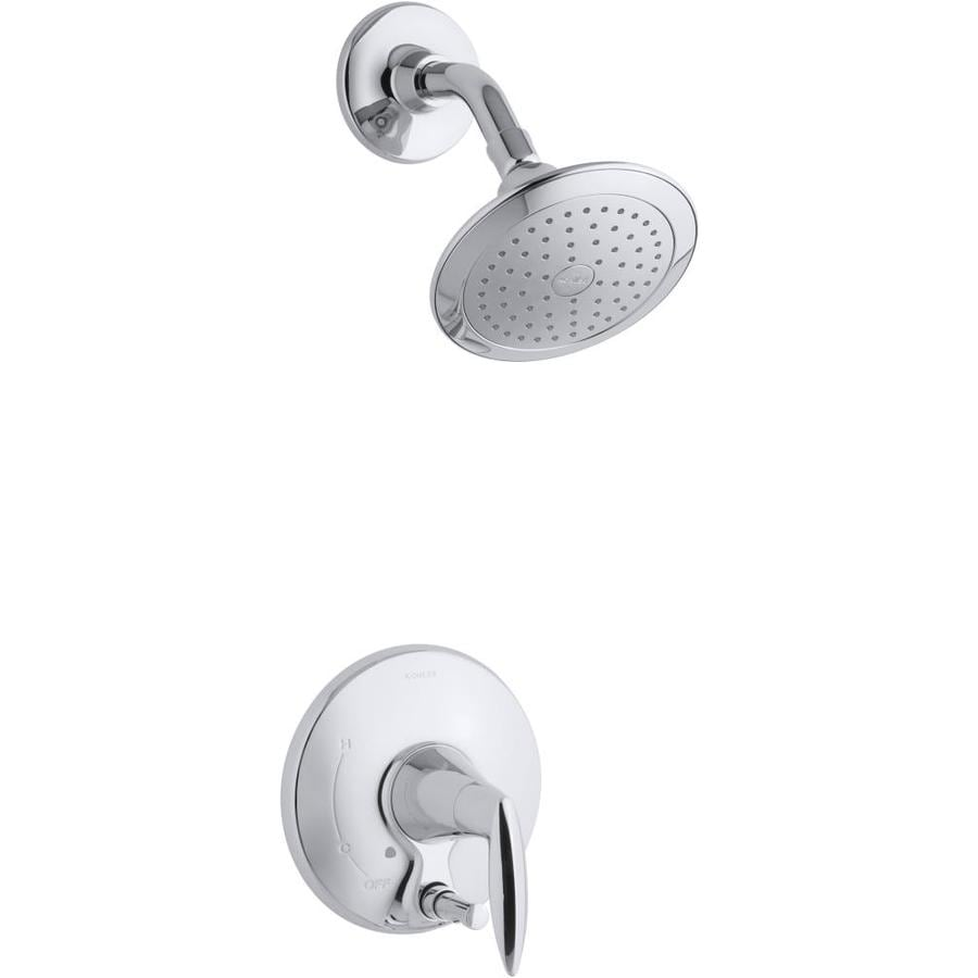 KOHLER Alteo Polished Chrome 1-Handle Shower Faucet Trim Kit with Single Function Showerhead