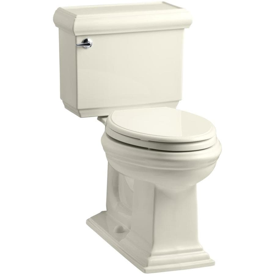 KOHLER Memoirs 1.28-GPF (4.85-LPF) Almond Elongated Chair Height 2-piece Toilet