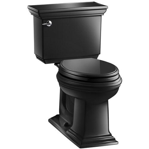 Kohler Memoirs Black Black Watersense Elongated Chair