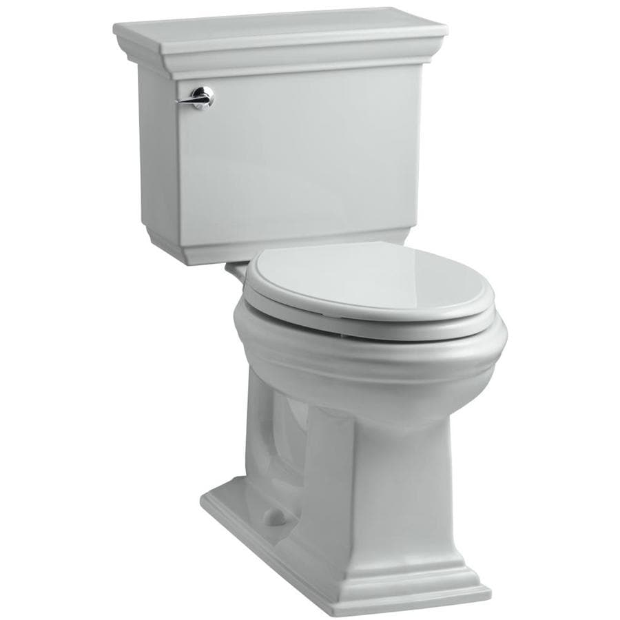 KOHLER Memoirs Ice Grey 1.28-GPF (4.85-LPF) 12 Rough-In WaterSense Elongated 2-Piece Chair Height Toilet