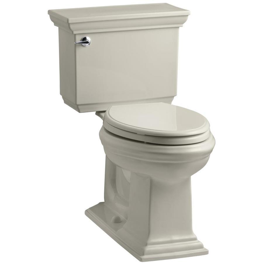 KOHLER Memoirs 1.28-GPF (4.85-LPF) Sandbar Elongated Chair Height 2-piece Toilet