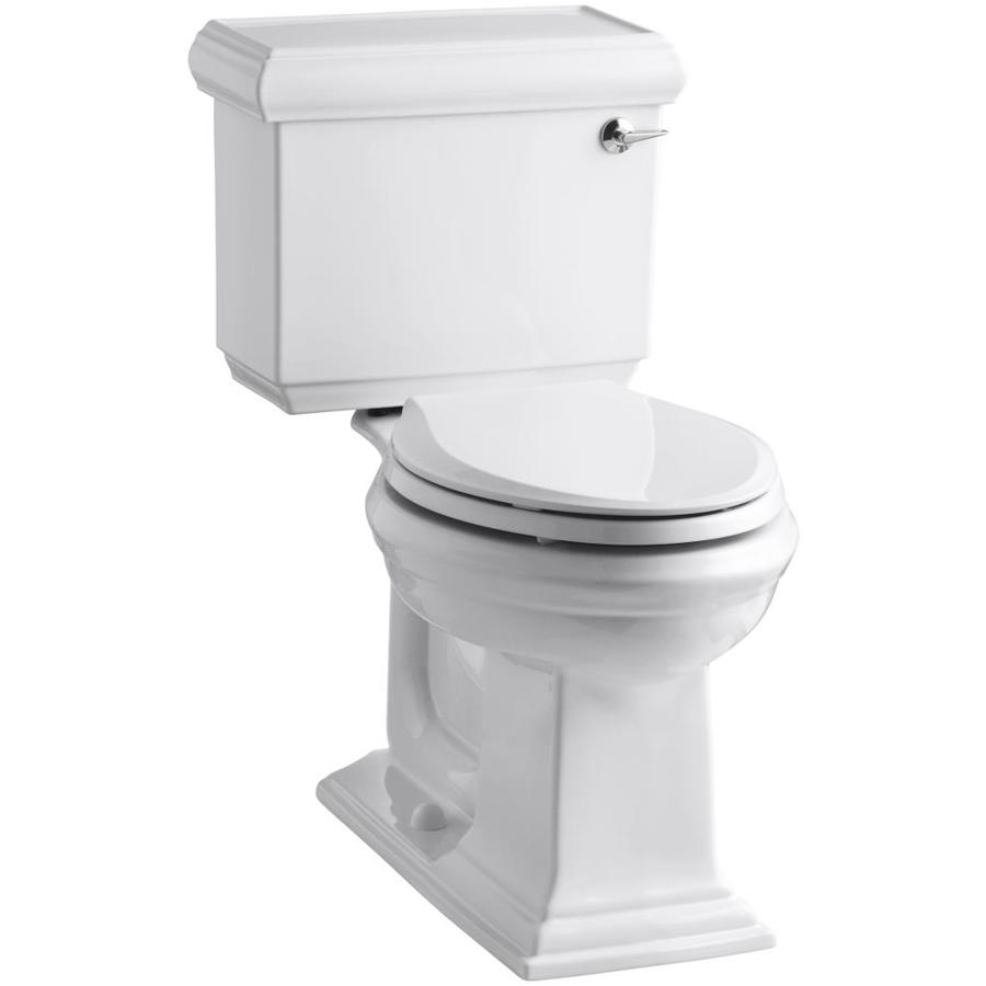 KOHLER Memoirs White 1.28-GPF (4.85-LPF) 12 Rough-In WaterSense Elongated 2-Piece Chair Height Toilet