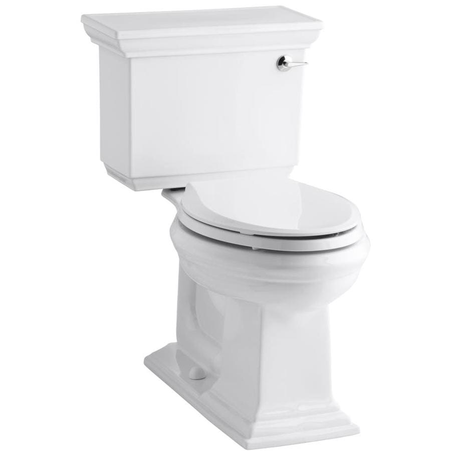 KOHLER Memoirs White WaterSense Labeled  Elongated Chair Height 2-piece Toilet 12-in Rough-In Size