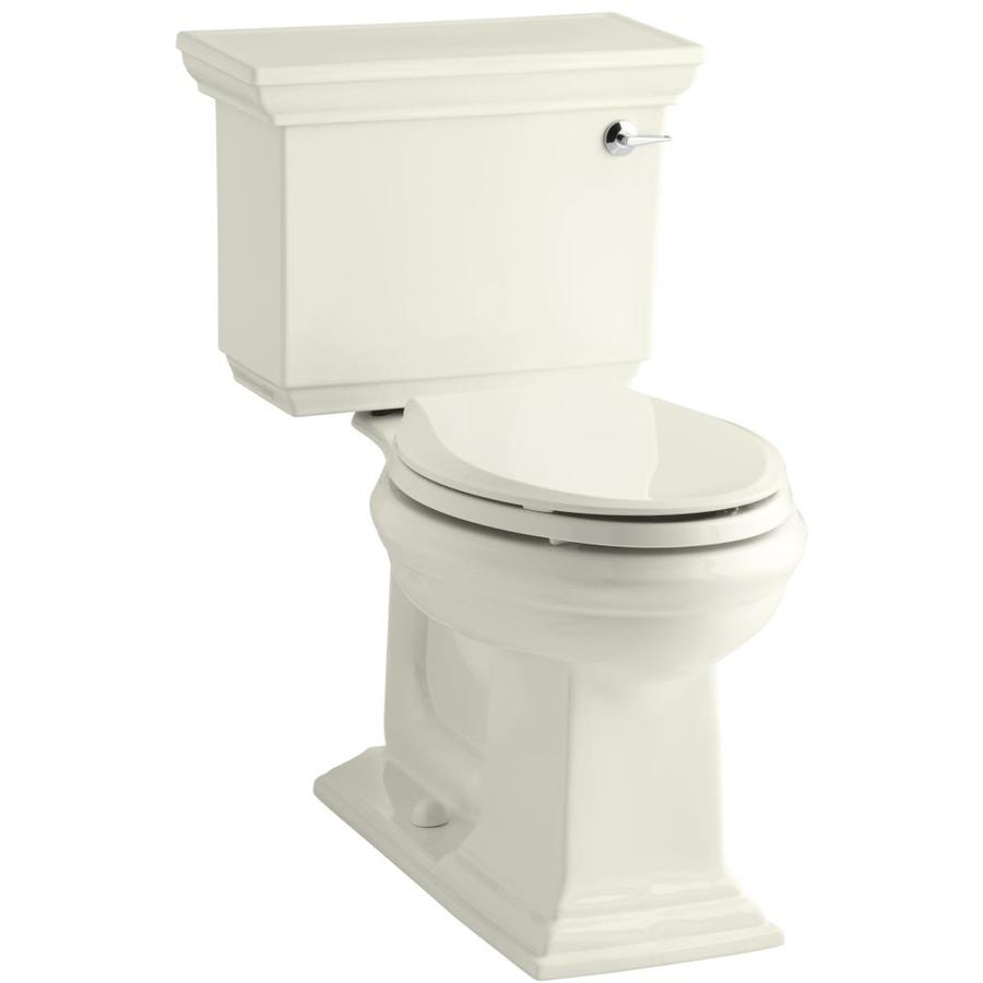 KOHLER Memoirs 1.28-GPF Biscuit WaterSense Elongated Chair Height 2-Piece Toilet