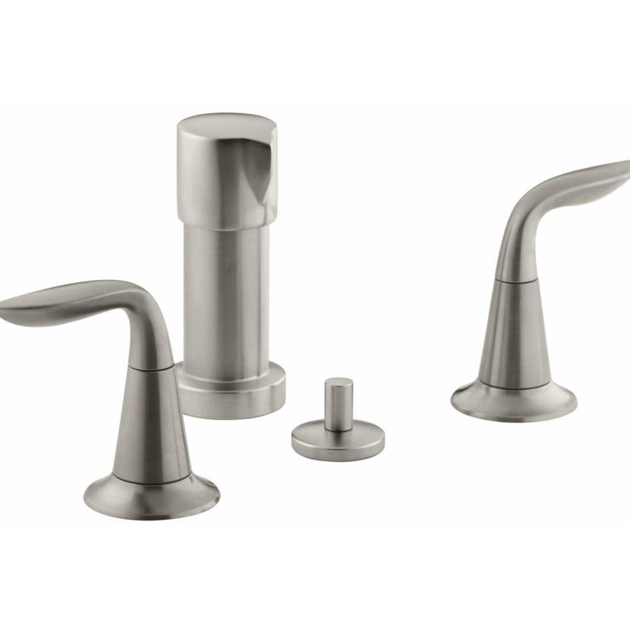 KOHLER Refinia Vibrant Brushed Nickel Vertical Spray Bidet Faucet