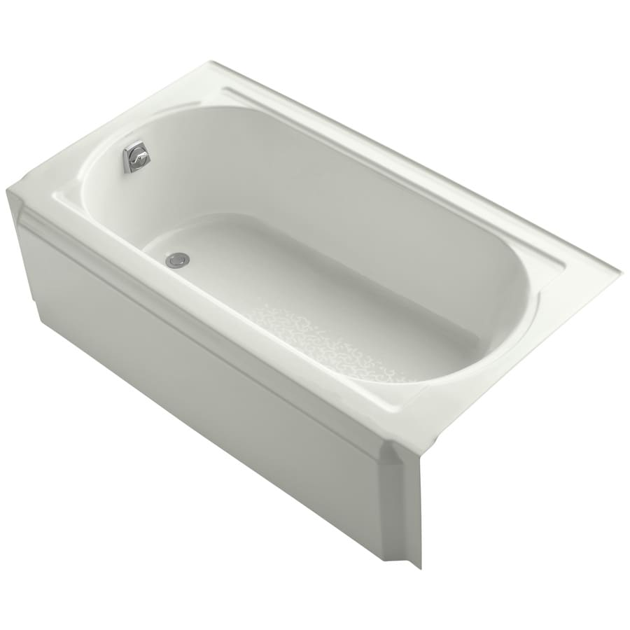KOHLER Memoirs 60-in Dune Acrylic Alcove Bathtub with Reversible Drain