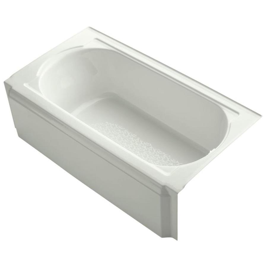 KOHLER Memoirs Dune Cast Iron Oval In Rectangle Alcove Bathtub with Right-Hand Drain (Common: 34-in x 60-in; Actual: 17.4375-in x 33.75-in x 60-in)