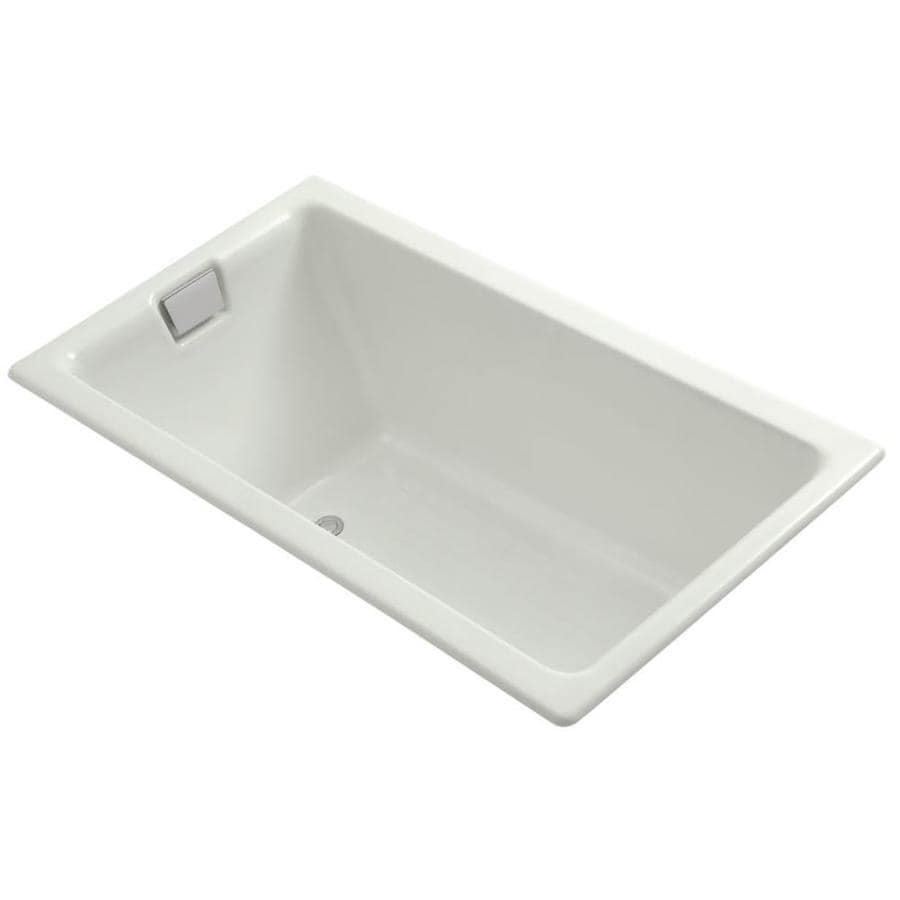 KOHLER Tea-For-Two Dune Cast Iron Rectangular Drop-in Bathtub with Reversible Drain (Common: 36-in x 66-in; Actual: 24.0000-in x 36.0000-in x 66.0000-in)