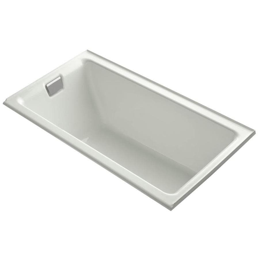 kohler tea for two dune cast iron rectangular alcove bathtub with left
