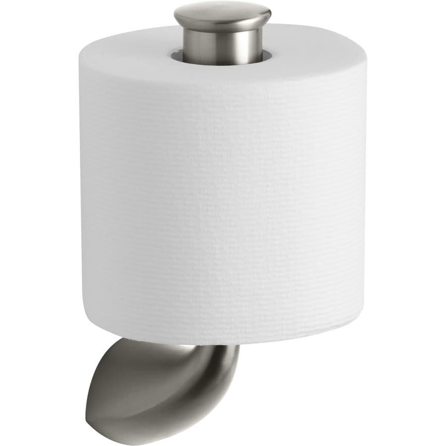 KOHLER Alteo Vibrant Brushed Nickel Surface Mount Single Post Toilet Paper Holder