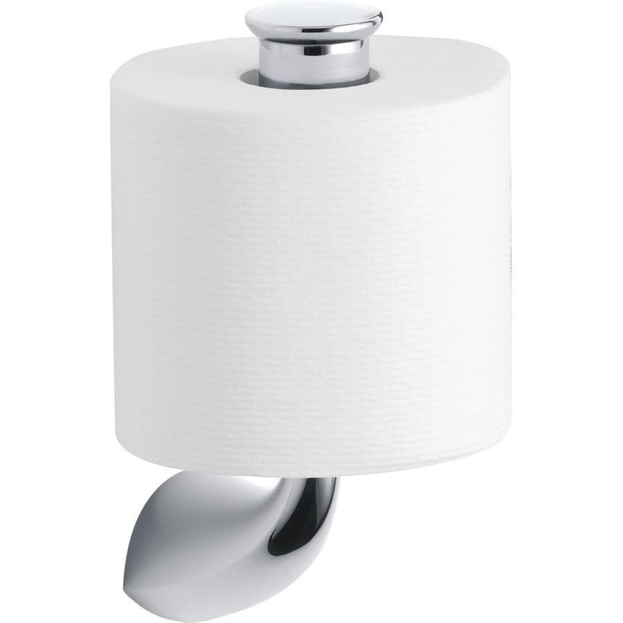 KOHLER Alteo Polished Chrome Surface Mount Single Post Toilet Paper Holder