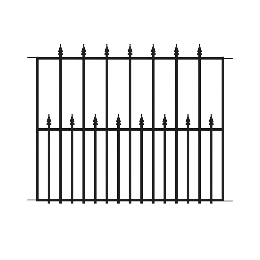 No Dig Empire Powder-Coated Steel Decorative Fence Panel (Common: 2.4-ft x 3.15-ft; Actual: 2.4-ft x 3.15-ft)