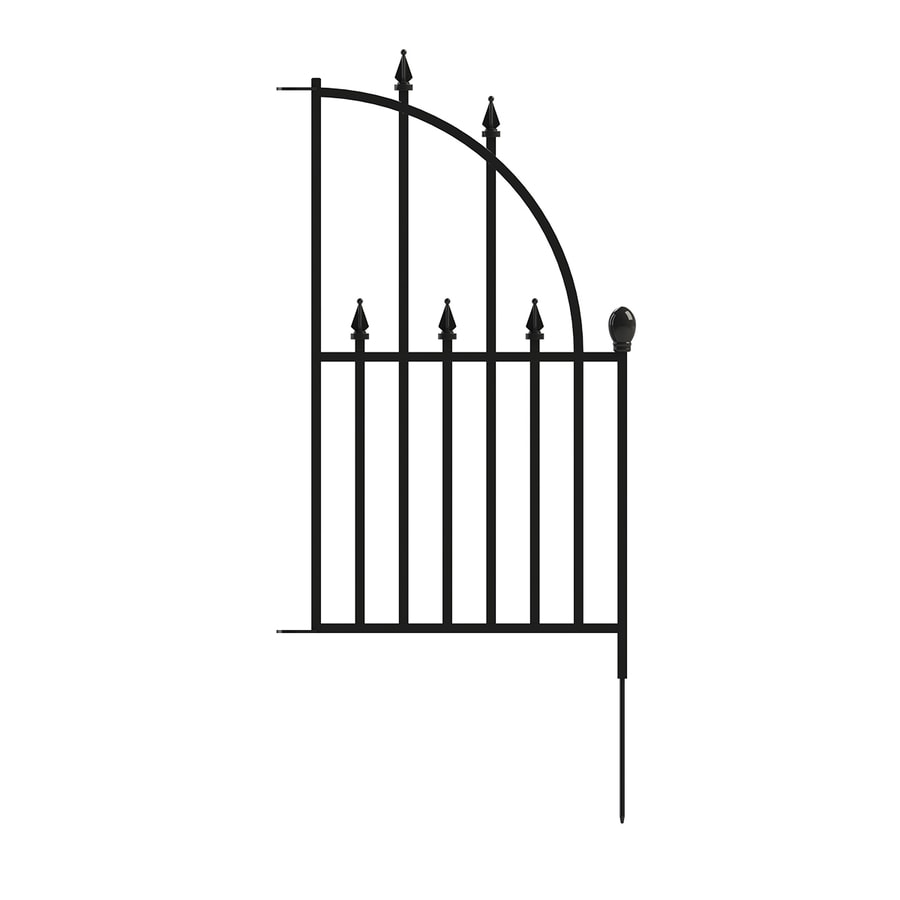 No Dig (Common: 2.5-ft x 1.4-ft; Actual: 2.5-ft x 1.4-ft) Empire Powder-Coated Steel Decorative Fence Panel