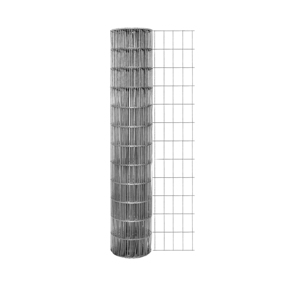 Garden Zone Actual 50 Ft X 4 Ft Gray Steel Welded Wire