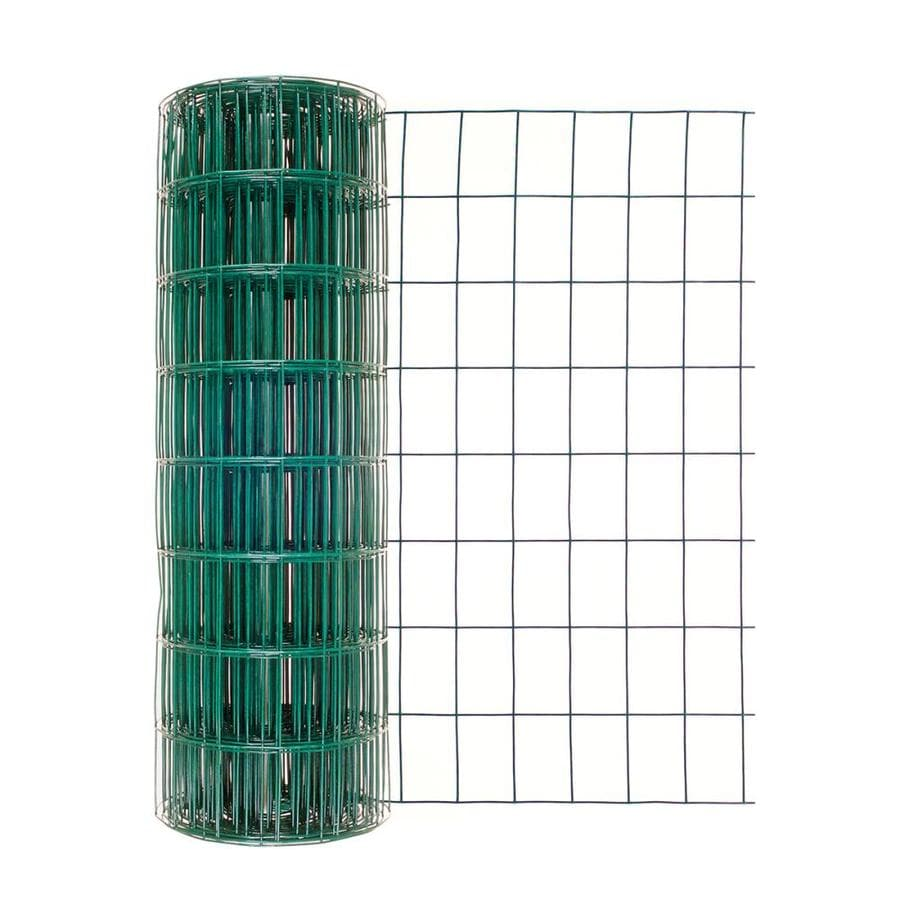 Shop Garden Zone (Actual: 50-ft x 2-ft) Green PVC Coated Welded Wire ...