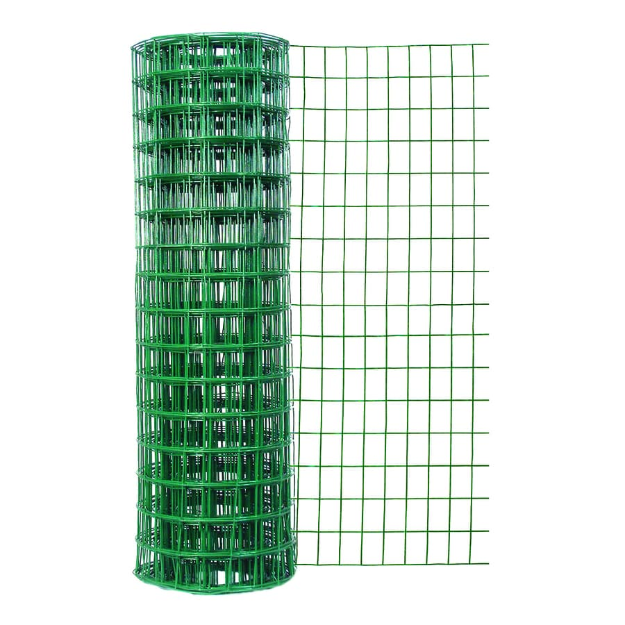 Garden Zone (Actual: 50-ft x 4-ft) Green PVC Coated Steel Welded Wire Rolled Fencing