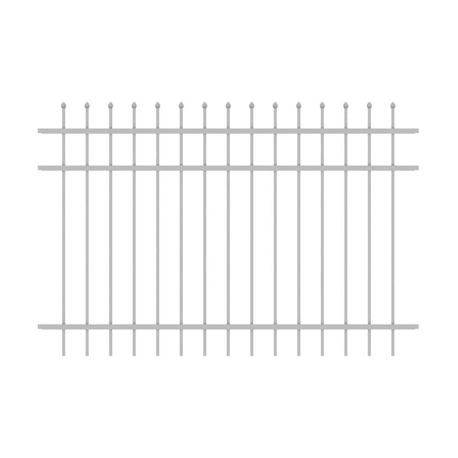 Ironcraft (Common: 4-ft x 6-ft; Actual: 4-ft x 6-ft) Orleans White Powder-Coated Aluminum Decorative Fence Panel