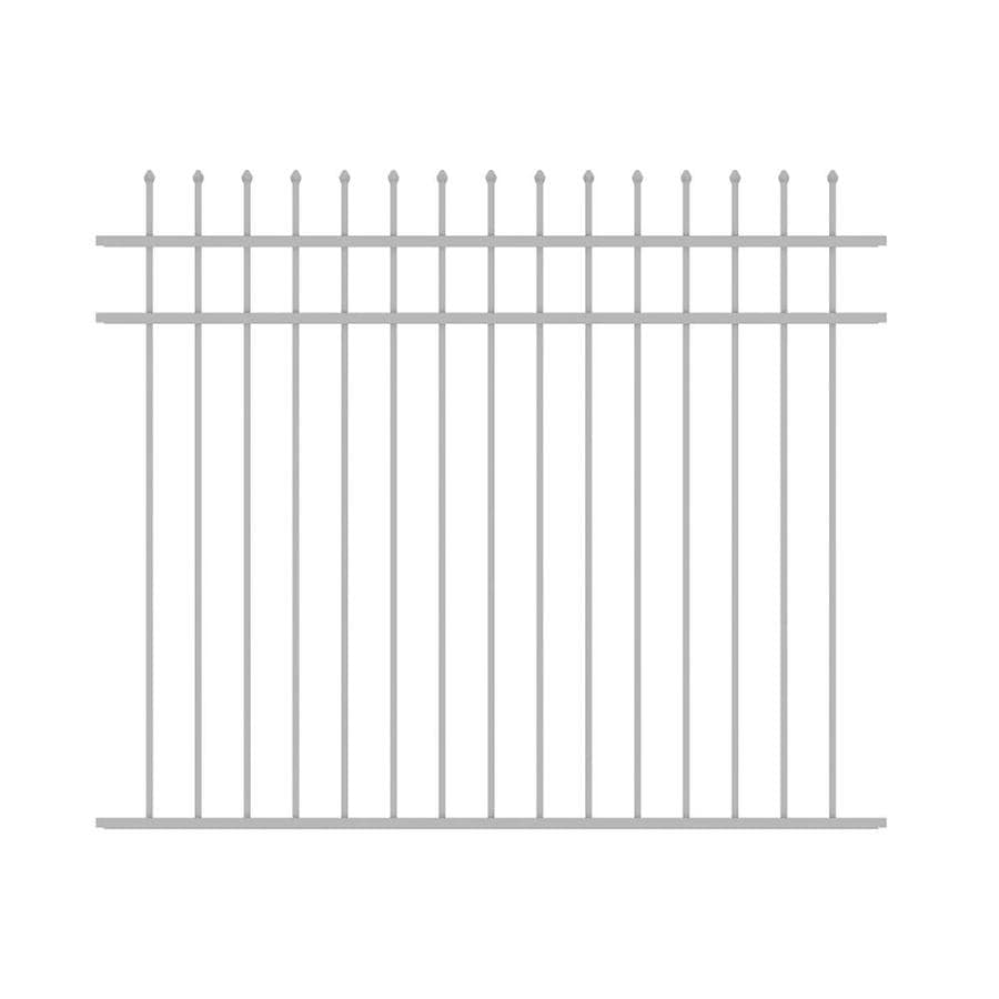 Ironcraft (Common: 5-ft x 6-ft; Actual: 5-ft x 6-ft) Orleans White Powder-Coated Aluminum Decorative Fence Panel