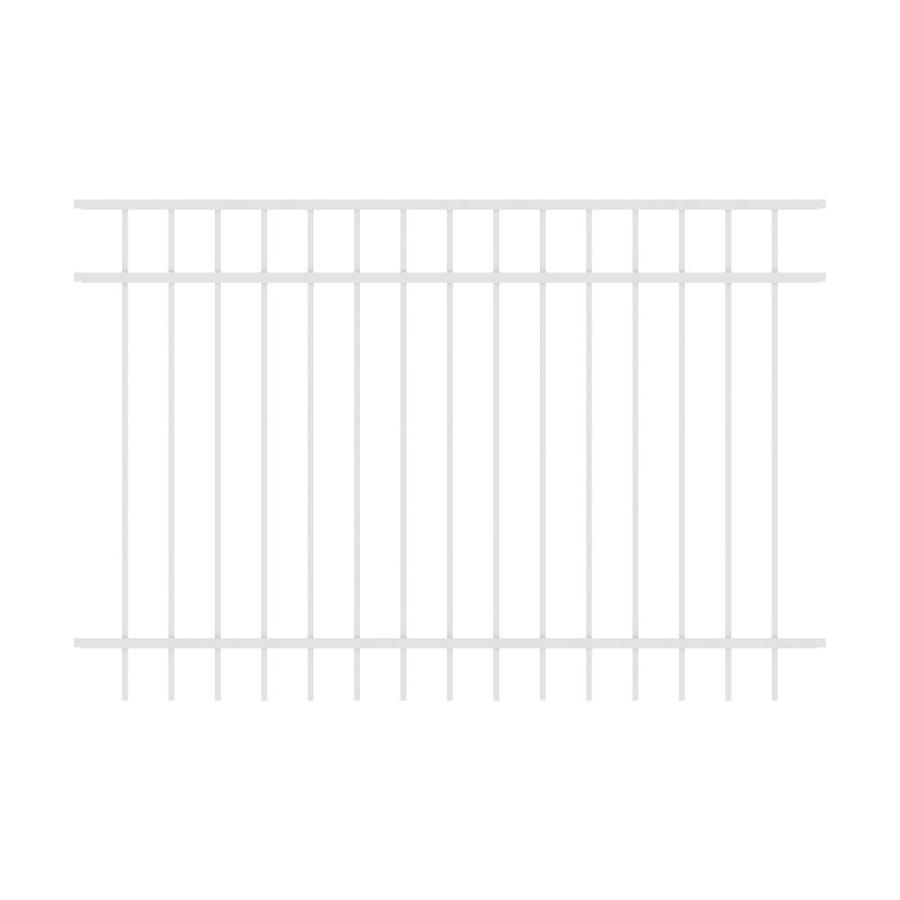 Ironcraft (Common: 4-ft x 6-ft; Actual: 4-ft x 6-ft) Berkshire White Powder-Coated Aluminum Decorative Fence Panel
