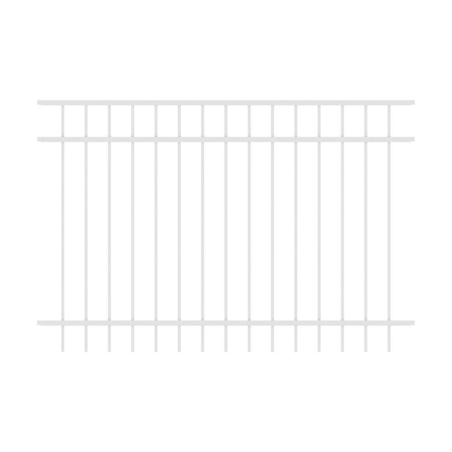 Ironcraft (Actual: 4-ft x 6-ft) Berkshire White Powder-Coated Aluminum Decorative Fence Panel