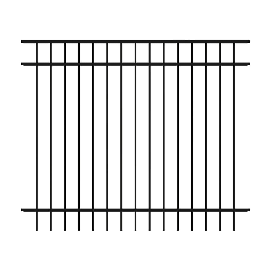 Ironcraft Berkshire Black Powder-Coated Aluminum Decorative Fence Panel (Common: 5-ft x 6-ft; Actual: 5-ft x 6-ft)