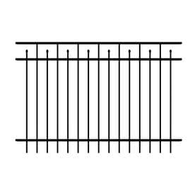 Black Aluminum Fence Panels At Lowes Com